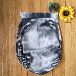 J. Crew striped skirt with side gathering
